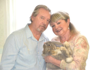 Christy & Aldaron Laird with French Lop Tileigh